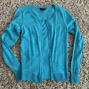 The Limited button up cardigan blue sz xs